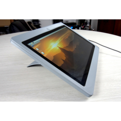 Diskio Pi in tablet position, colour grey